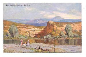JORDAN - Das heilige Bad am Jordan, Künstler-Karte, Theo Stroefer Nürnberg
