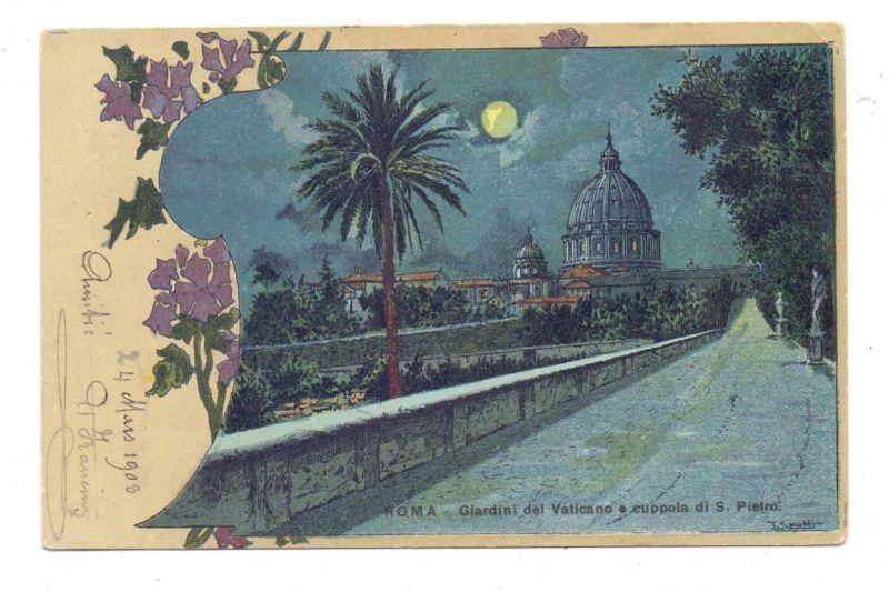 VATICAN - Giardini del Vaticano, Mondschein-Karte, 1903