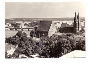 0-1200 FRANKFURT / Oder, Blick zur Konzerthalle und Friedenskirche