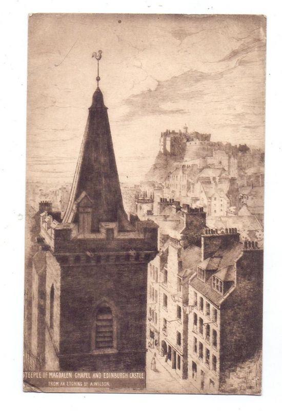 UK - SCOTLAND - MIDLOTHIAN - EDINBURGH, Artist A.Wilson, Steeple of Magdalen Chapel...1935