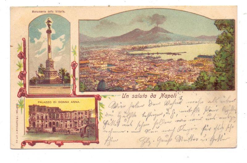 I 80100 NAPOLI, Un saluto da Napoli, 1900