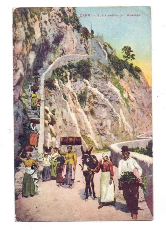 I 80073 CAPRI, Scala antica per Anacapri, 1925, Eckknick