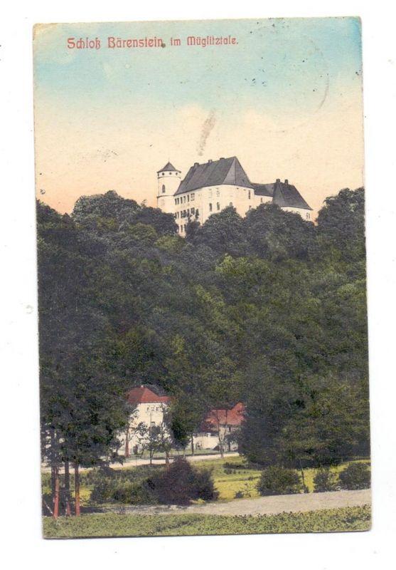 0-8243 BÄRENSTEIN, Schloss Bärenstein im Müglitztale, 1910