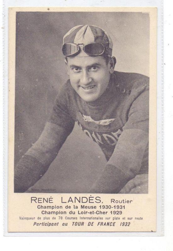 RADSPORT / CYCLISME, RENE LANDES, Champion de la Meuse & du Loir-et-Cher