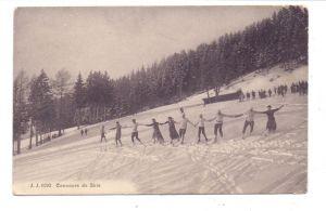 WINTERSPORT - SKILAUFEN Schweiz, Concours de Skie, 1919, Militärzensur, kl. Druckstellen