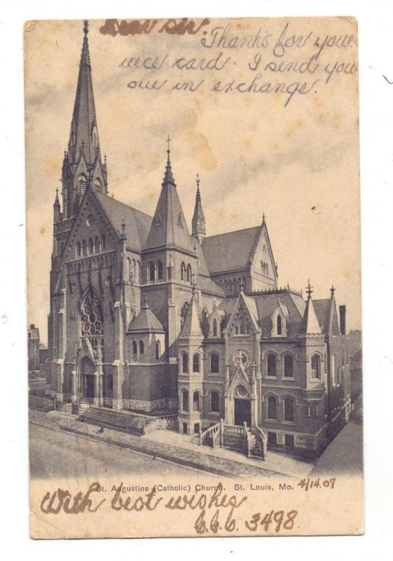 USA - MISSOURI - ST. LOUIS, St. Augsutine Church, 1907
