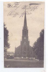 B 6000 CHARLEROI - COUILLET, Eglise St. Basile, 1916, deutsche Feldpost
