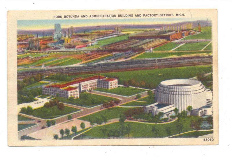 USA - MICHIGAN - DETROIT, FORD Rotunda & Factory, 1950