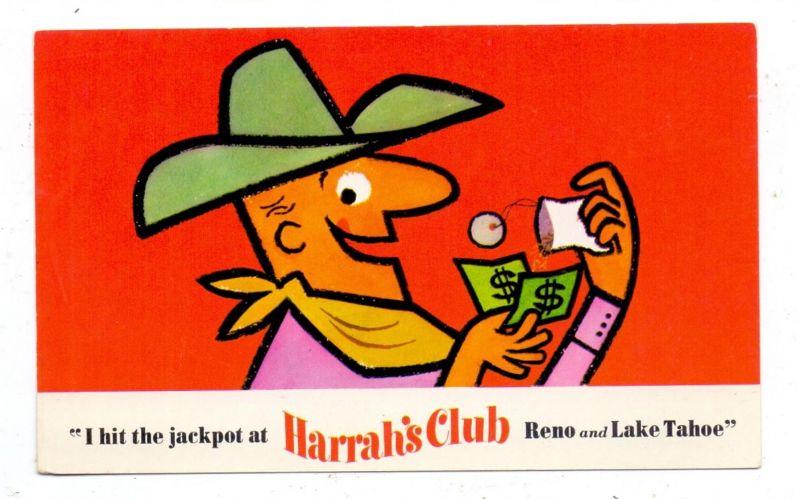 USA - NEVADA - RENO, HARRAH'S CLUB advertising