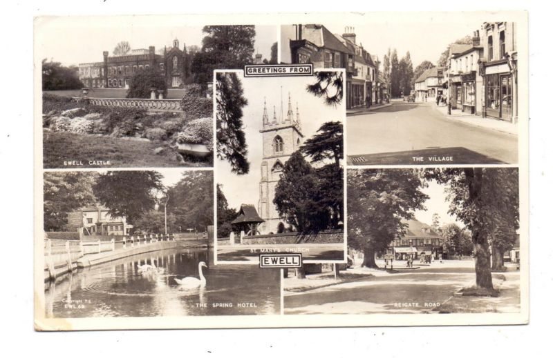 UK - ENGLAND - SURREY - EWELL, Spring Hotel, Reigate Road, The Village...1960