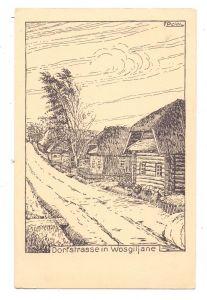 BELARUS / WEISSRUSSLAND - WOSGILJANE, Dorfstrasse, 1916, 1.Weltkrieg, Soldatenzeichnung