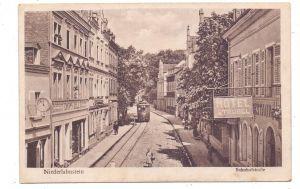 5420 LAHNSTEIN, Niederlahnstein, Hotel Strobel, 1919, Strassenbahn / Tram