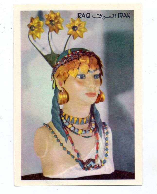IRAK / IRAQ - Royal Cemetery de Ur, Hair dress of a woman from the