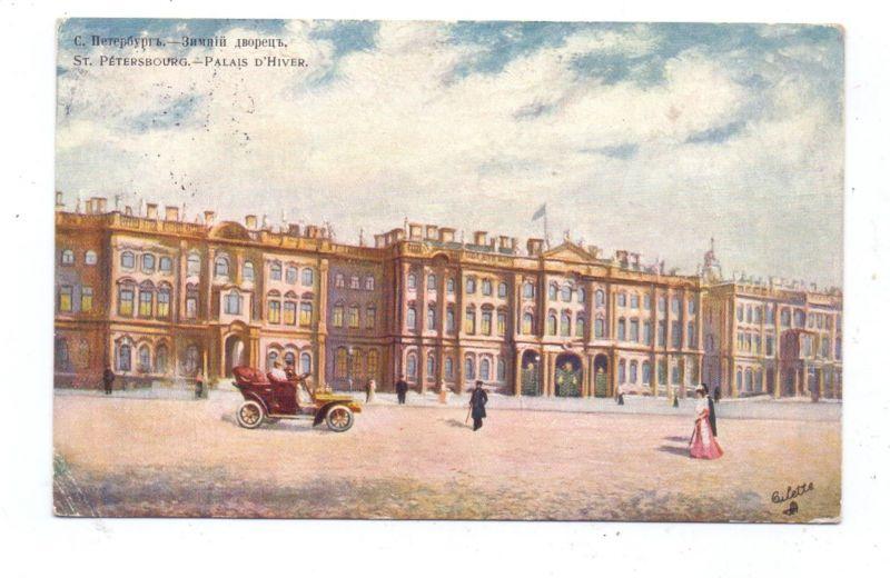 RU 190000 SANKT PETERSBURG, Winter Palast, 1908, TUCK Oilette