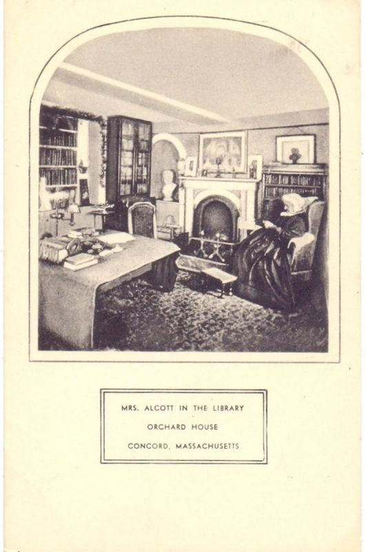 USA - MASSACHUSETTS- CONCORD, Mrs. Alcott in the Library, Orchard House