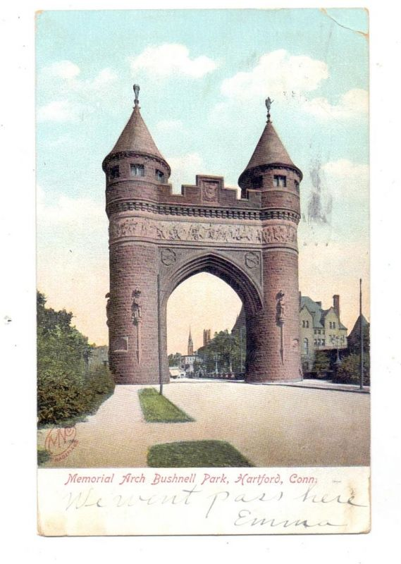 USA - CONNECTICUT - HARTFORD, Memorial Arch Bushnell Park, 1907