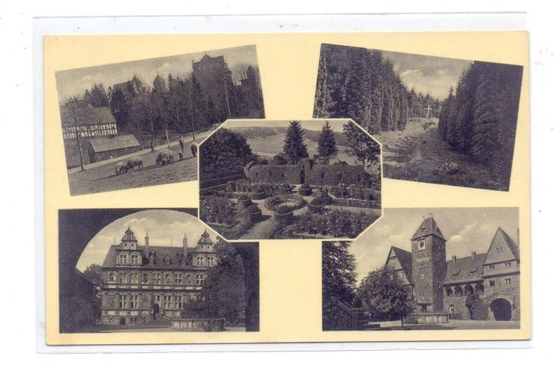 5244 DAADEN - FRIEDEWALD, Schloss Friedewald und Umgebung, NSLB Hans-Schemm-Gauschule