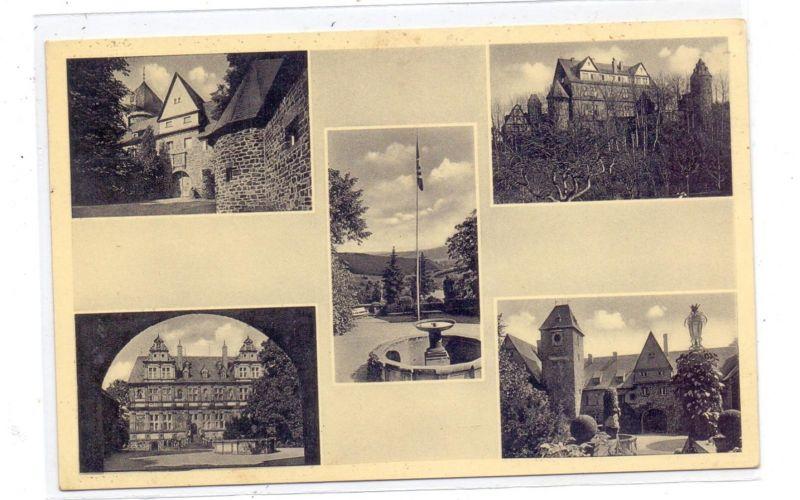 5244 DAADEN - FRIEDEWALD, Schloss Friedewald, NSLB Hans-Schemm-Gauschule, NS-Beflaggung