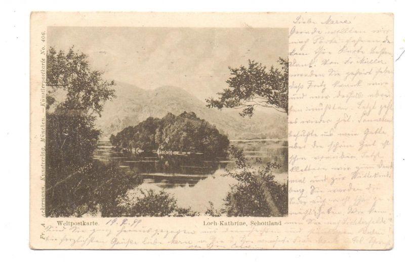 UK - SCOTLAND - STIRLINGSHIRE, Loch Katrine, Künstler-Karte / Artist-pc, 1899