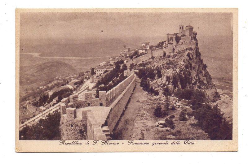 SAN MARINO, Panorama generale della Citta, 1938
