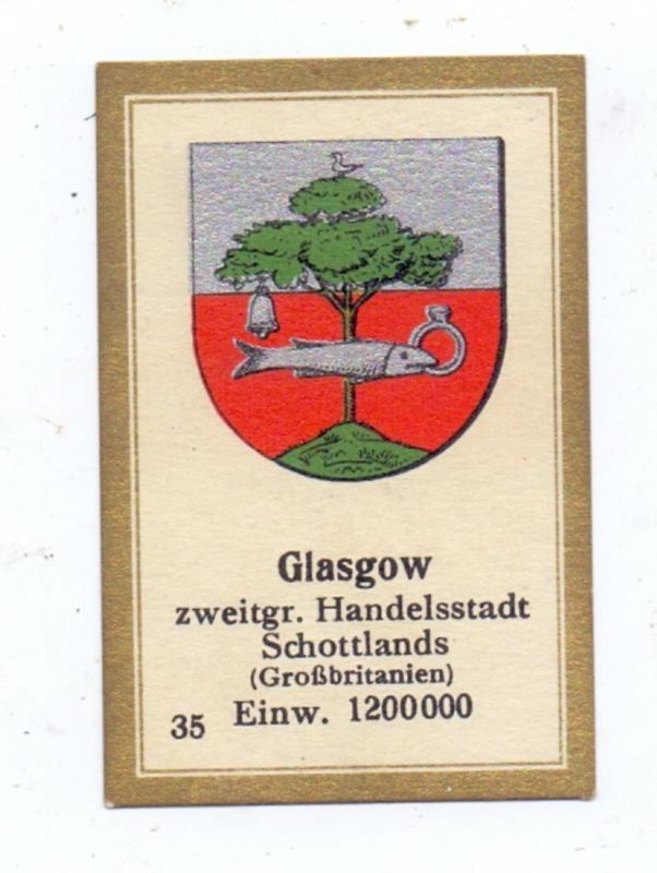 UK - SCOTLAND - LANARKSHIRE - GLASGOW, Stadtwappen, Vignette / Cinderella 6,5 x 4,3 cm