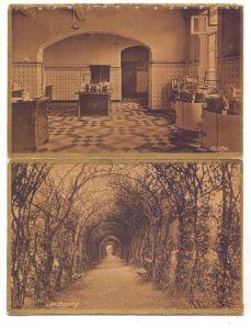 4170 GELDERN - KAPELLEN, Kloster St. Bernardin, 2 AK aus Leporello, die obere am Rand handperforiert