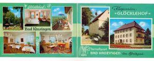 7812 BAD KROZINGEN, Kurpension GLÖCKLEHOF, Klapp-Karte