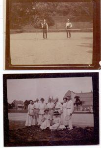 SPORT - TENNIS, 2 Photos, 11,5 x 9 cm