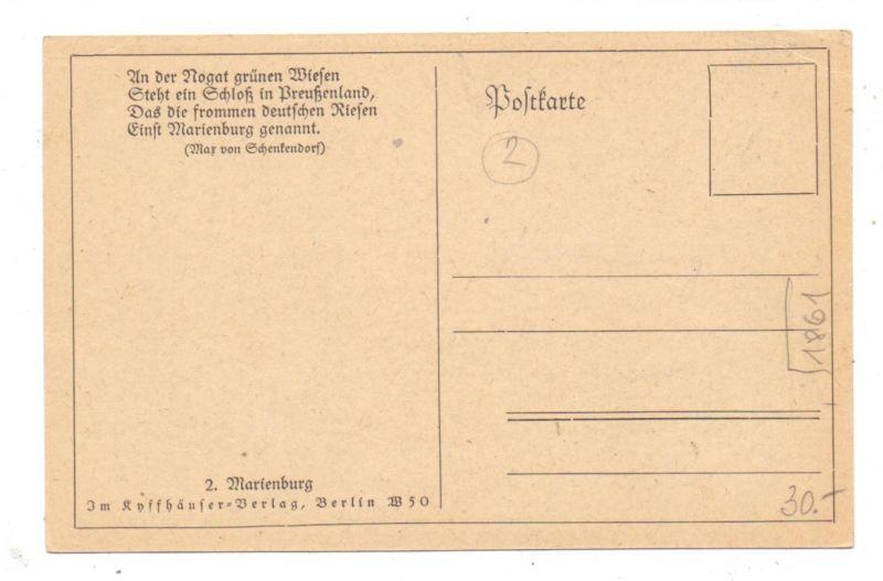 WESTPREUSSEN - MARIENBURG / MALBORK, Marienburg und Nogat, Künstler-Karte J.v.Kulas 1
