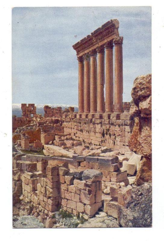 LIBANON - BAALBEK, Jupiter - Tempel, Farbphotographie ca. 1915