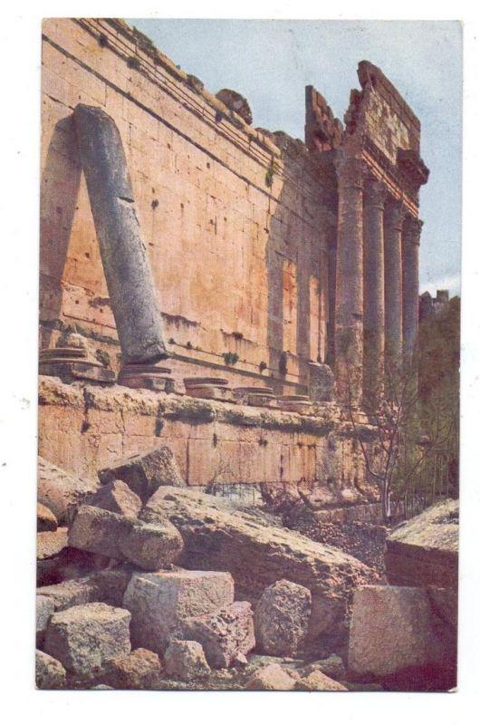 LIBANON - BAALBEK, Bacchus - Tempel, Lumiere Farbphotographie ca. 1915