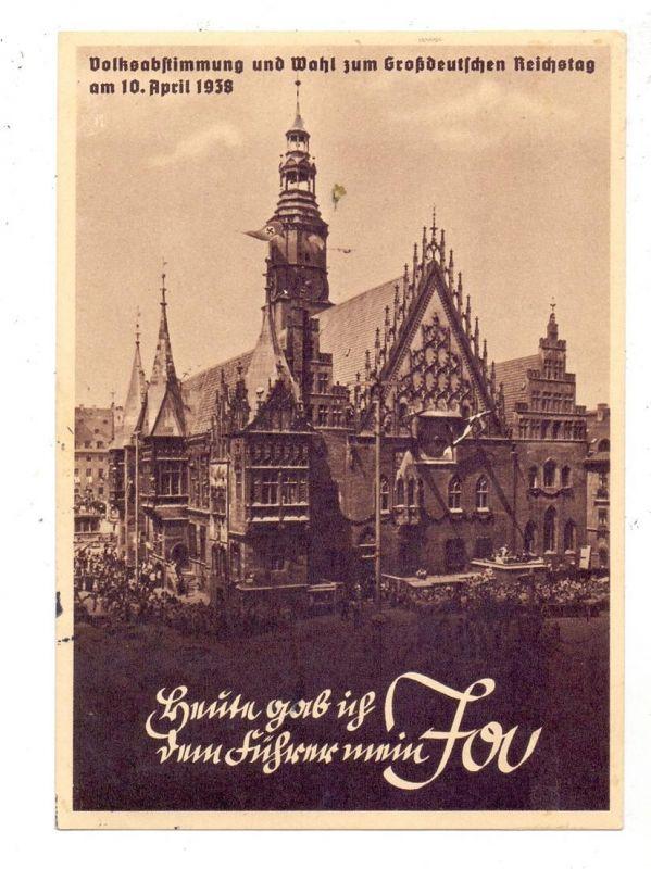 NIEDER-SCHLESIEN - BRESLAU  / WROCLAW, Volksabstimmung 1938