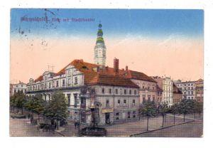 NIEDER-SCHLESIEN - SCHWEIDNITZ / SWIDNICE, Ring mit Stadttheater, 1916