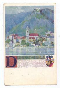 A 3601 DÜRNSTEIN, Künstler-Karte, Verlag  des Vereins Südtirol