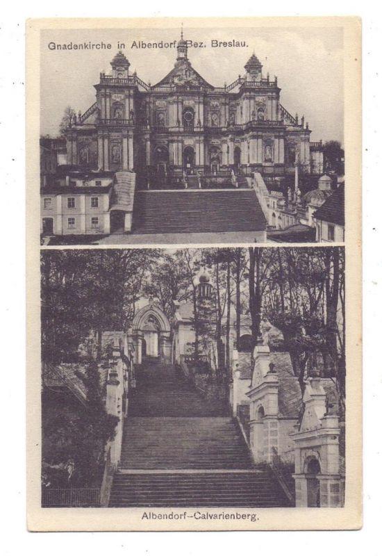 NIEDER-SCHLESIEN - ALBENDORF / WAMBIERZYCE, Gnadenkirche, Calvarienberg