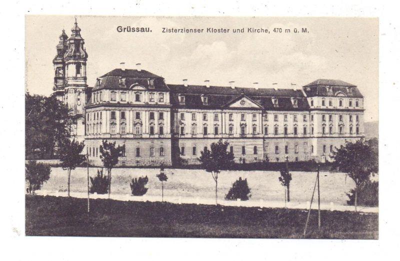 NIEDER-SCHLESIEN - GRÜSSAU / KRZESZOW, Zisterzienser Kloster und Kirche