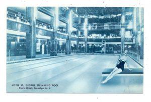 SPORT - SCHWIMMEN, Swimmin pool Hotel St. George, Brooklyn N.Y.