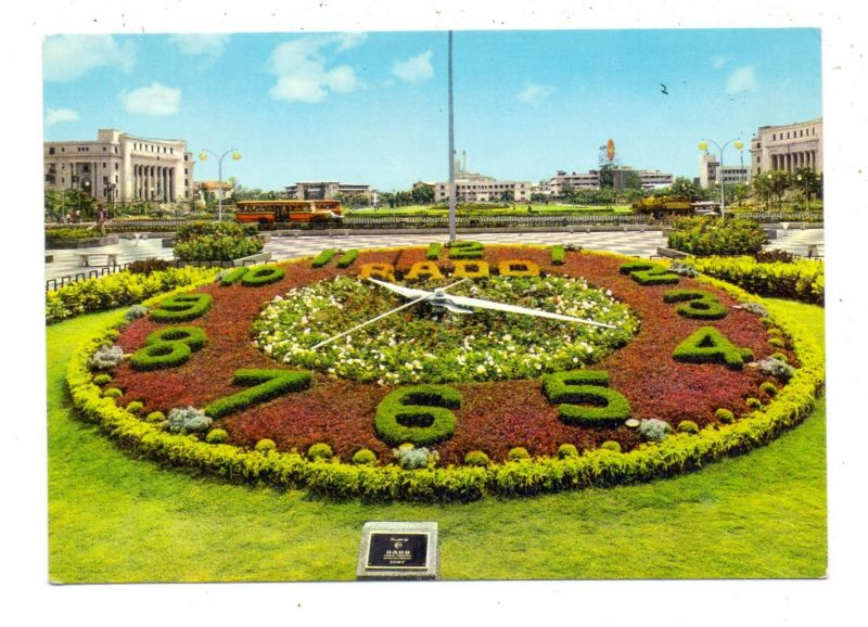 PILIPINAS - MANILA, RADO Flower Clock, Blumenuhr