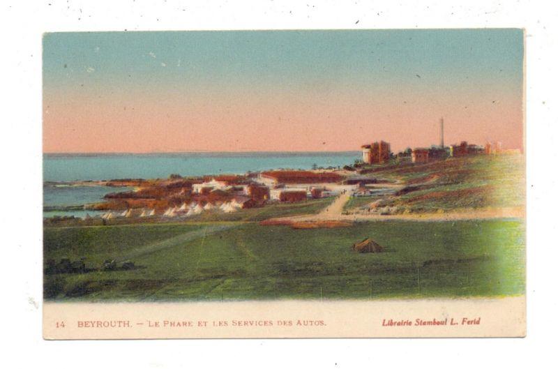 LIBANON - BEYROUTH, Le Phare / Lighthouse / Leuchtturm & les Services des Autos