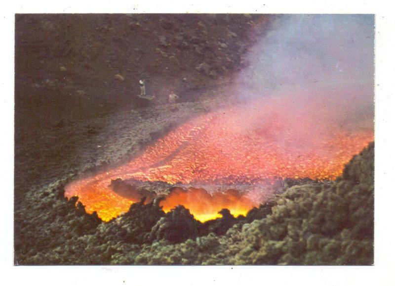 KATASTROPHEN - VULKANAUSBRUCH - ETNA / ÄTNA, Eruption 1971