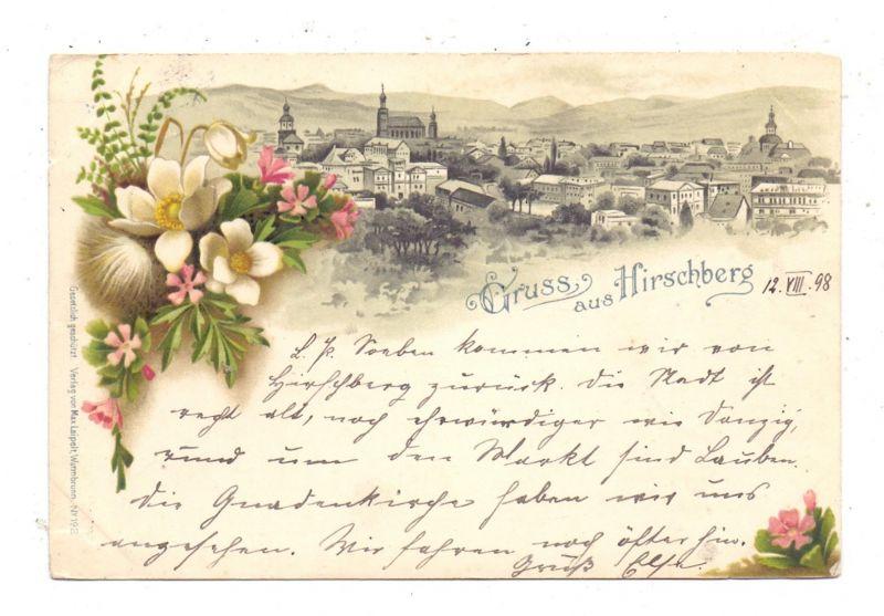 NIEDER-SCHLESIEN - HIRSCHBERG / JELENIA GORA, Lithographie 1898