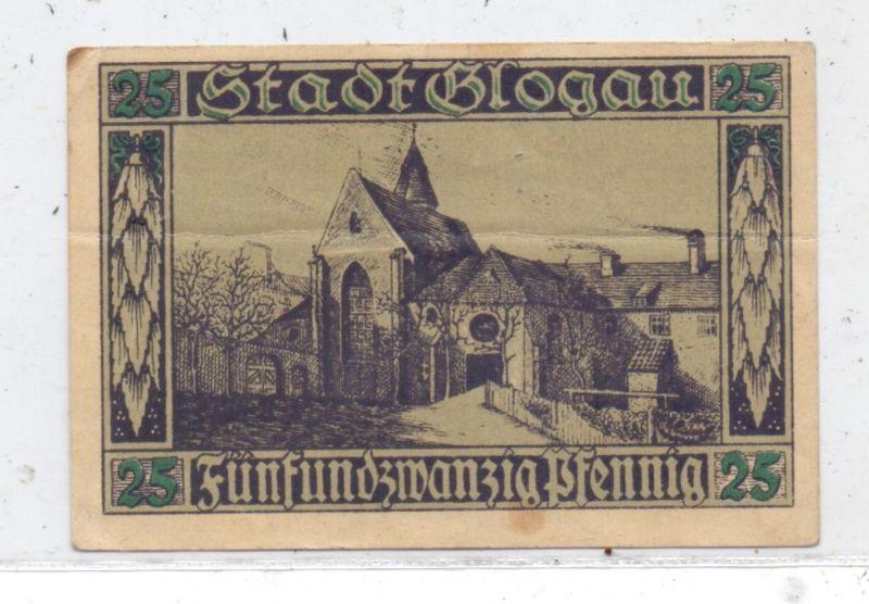 NIEDER-SCHLESIEN - GLOGAU, Notgeld 25 Pfg., Gebrauchserhaltung