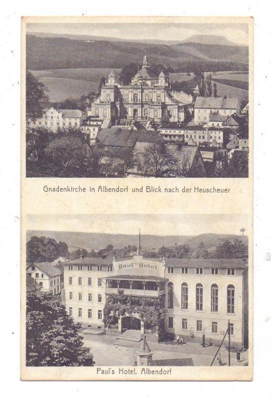 NIEDER-SCHLESIEN - ALBENDORF / WAMBIERZYCE, Paul's Hotel, Gnadenkirche, weiches Papier