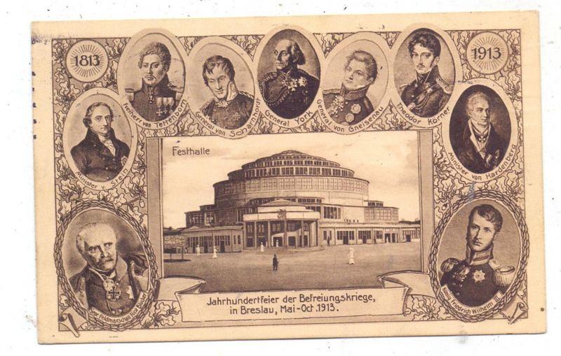 NIEDER-SCHLESIEN - BRESLAU  / WROCLAW, 1915, Ausstellung der Befreiungskriege, Privatganzsache PP 27, C174/02
