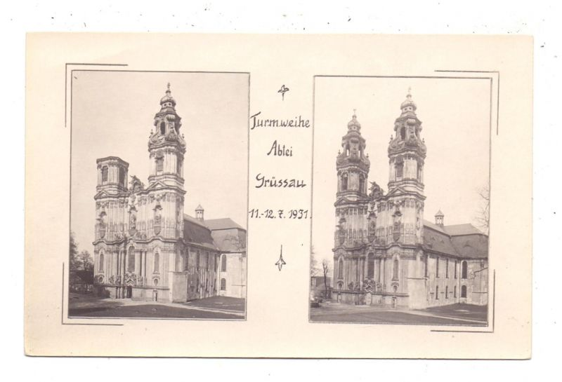NIEDER-SCHLESIEN - GRÜSSAU / KRZESZOW, Turmweihe 1931
