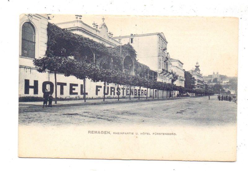 5480 REMAGEN, Hotel Fürstenberg, ca. 1905