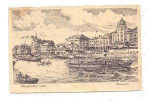 5330 KÖNIGSWINTER, Rheinpartie, Künstler-Karte 20er Jahre, Brfm. fehlt