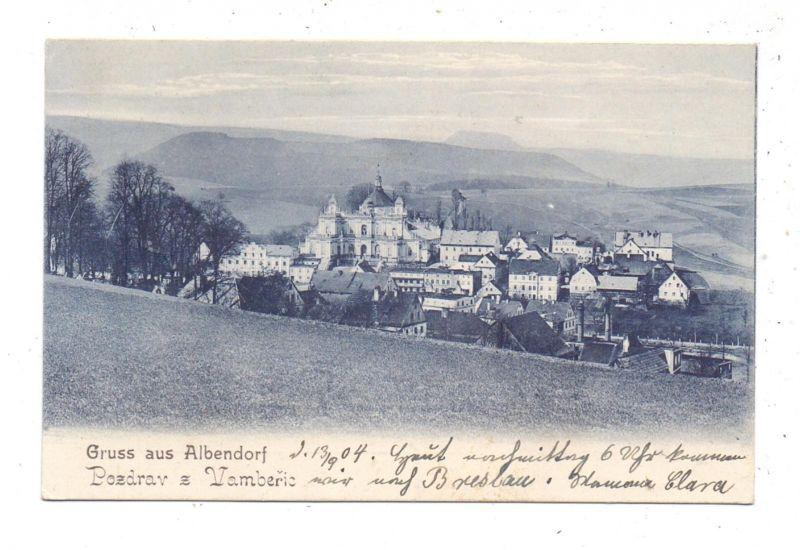 NIEDER - SCHLESIEN - ALBENDORF / WAMBIERZYCE, Gruss aus..., 1904