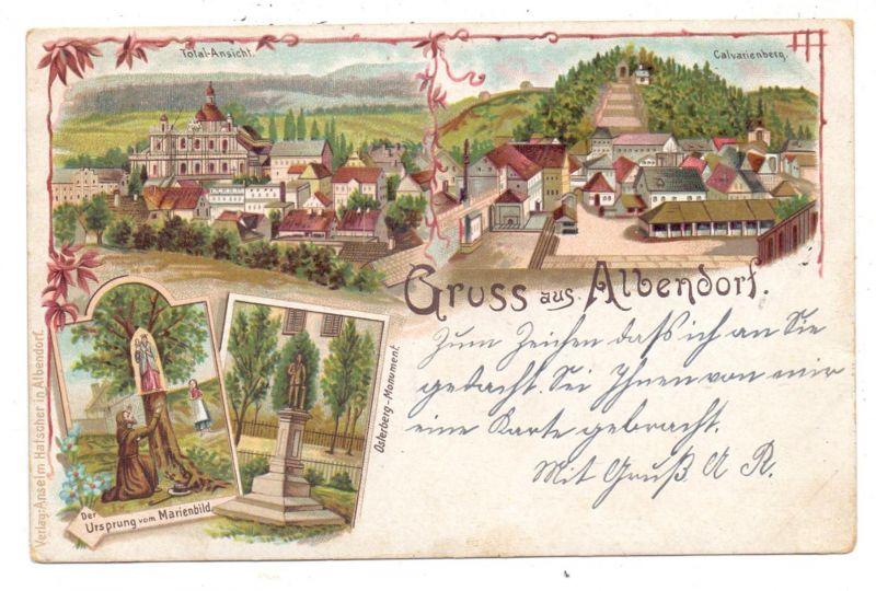NIEDER - SCHLESIEN - ALBENDORF / WAMBIERZYCE, Lithographie 1899