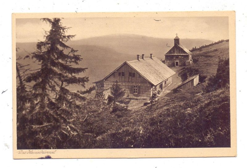 BÖHMEN & MÄHREN - WIESENBERG - WINKELSDORF, Heidebrünnel am Roten Berg,Wallfahrtskapelle, 1946 zerstört 0